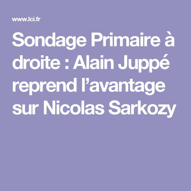 Sondage Primaire à droite : Alain Juppé reprend l'avantage sur Nicolas Sarkozy