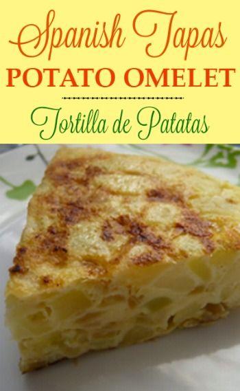 Spanish Potato Omelet Recipe- Tortilla Espanola - Tortilla de Patatas  |  whatscookingamerica.net  | #spanish #tapa #potato #omelet #tortilla #patatas
