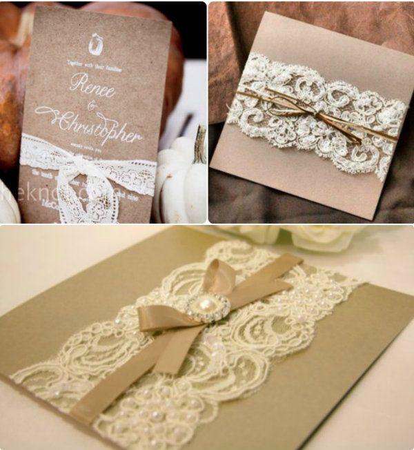 Vintage Spitze Hochzeit Einladungen Weiß: Einladung Hochzeit Vintage