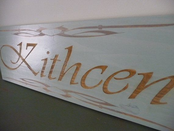 Items Similar To Large Kitchen Sign, Wooden Kitchen Sign With  Personalisation, Custom Kitchen Sign, Wooden Sign, Kitchen Plaque On Etsy