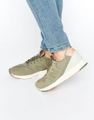 Chaussures De Sport Laçage Cuir Avec Bronze De Lumière D'insert De Maille Pour Une Esprit ms4cQ