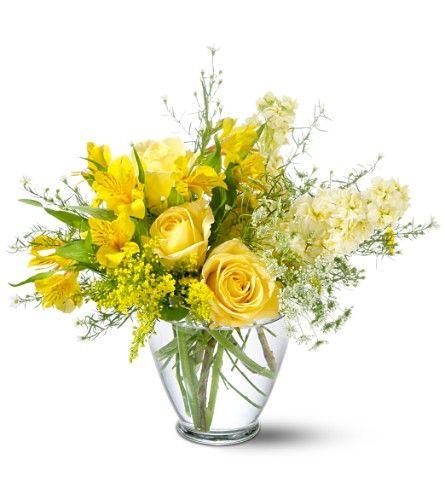 yellow flower arrangement