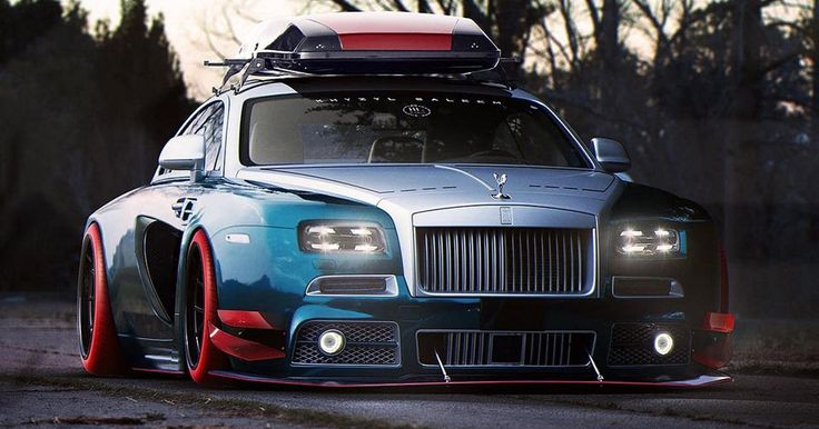 You're Never Going To See A Rolls-Royce Wraith Like This In Real Life. Ever #Renderings #Rolls_Royce