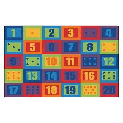 Carpets For Kids Learn To Count Seating Rug #classroom #daycare #teacher  #school