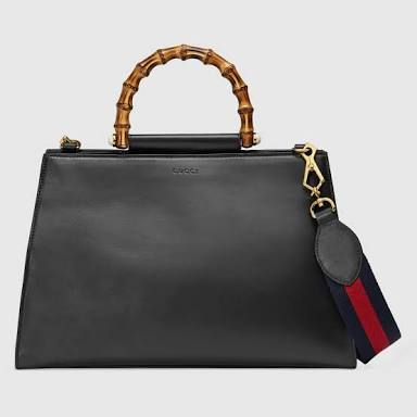 Gucci - Nymphaea Leather Top Handle Bag