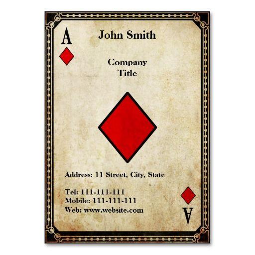 Vintage Ace of Diamonds Business Card Template