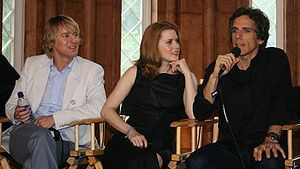 Amy Adams with Owen Wilson and Ben Stiller while promoting Night at the Museum: Battle of the Smithsonian in May 2009