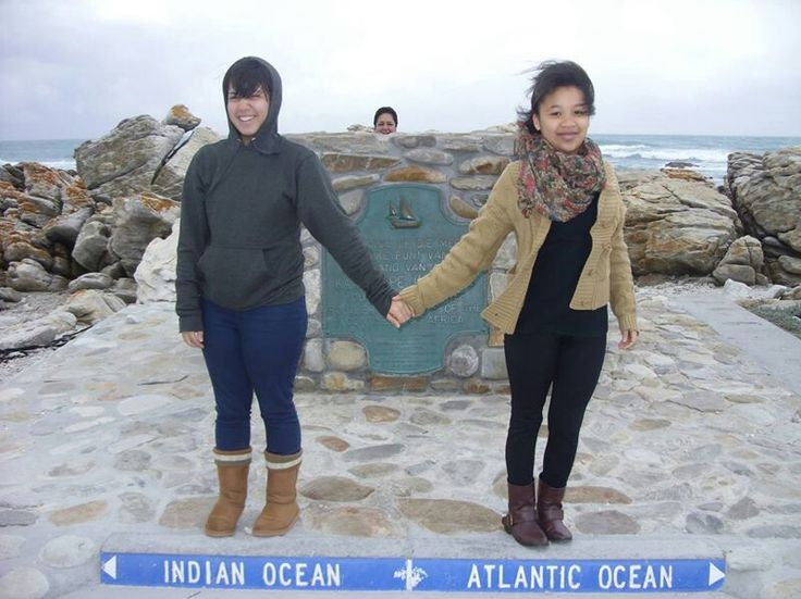 CeeJay and I at the southern most tip in Africa.
