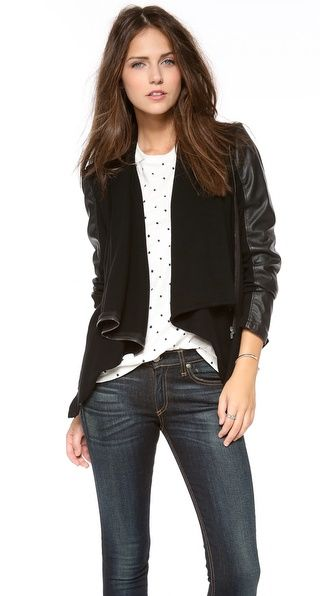 Just bought this baby:) Blank Denim Vegan Leather & Ponte Jacket