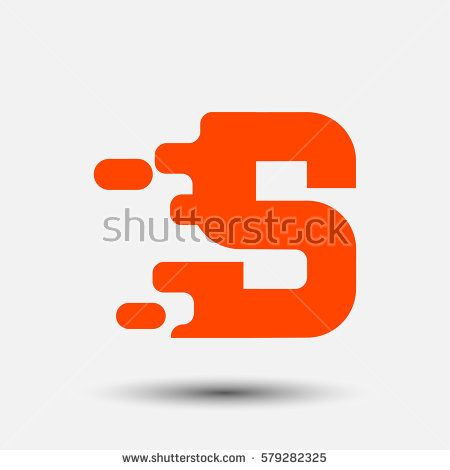 Letter S icon and logo template.  New design and elegant typographic. spread the font. orange