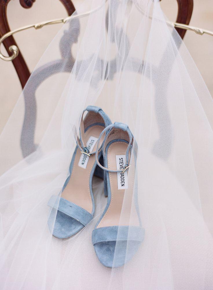 Rainy Day Charcoal And Cream Backyard Garden Wedding In Texas Light Blue Shoeslight