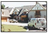 Atlas Alarms installing a security system in a residence.
