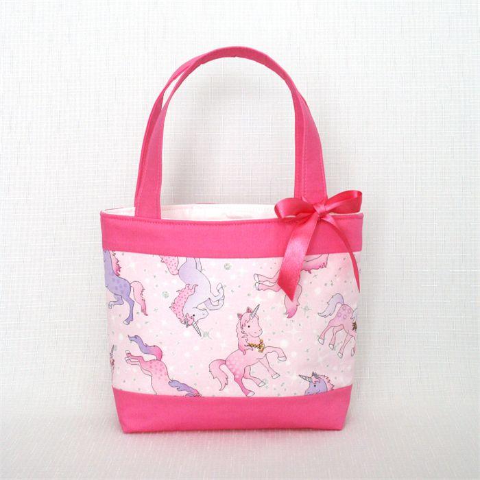 Mini Tote Bag - Girls Bag - Unicorns