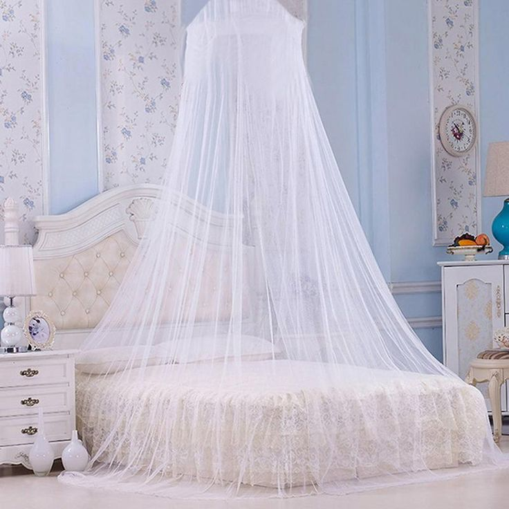 Elegant Mosquito Net For Double Bed Curtains Coton Canopy Round Lace Insect Net Netting Dome Polyester Bed Tent
