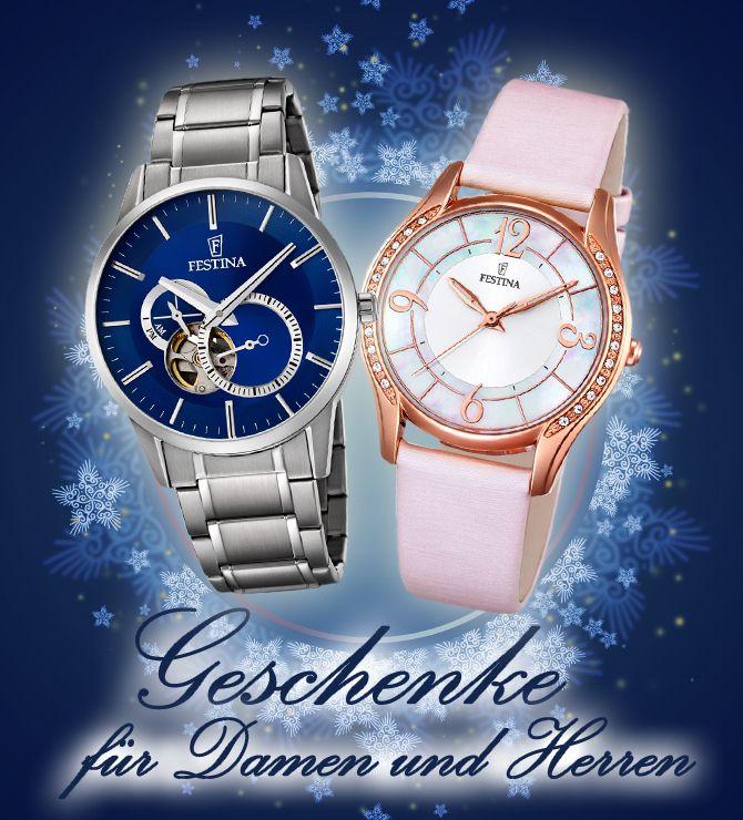 Damen- und Herrenuhren namenhafter Marken für jeden Geschmack passen perfekt unter den Weihnachtsbaum - jetzt shoppen auf www.uhrenlux.de