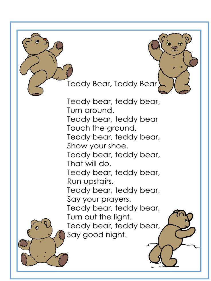 Teddy Bear, Teddy Bear Rhyme
