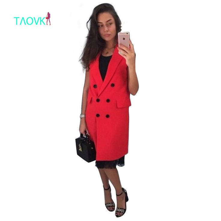 >> Click to Buy << TAOVK 2017 new fashion Russian style women Autumn Vest Red White Pink and Yellow lapel solid color vest coat #Affiliate