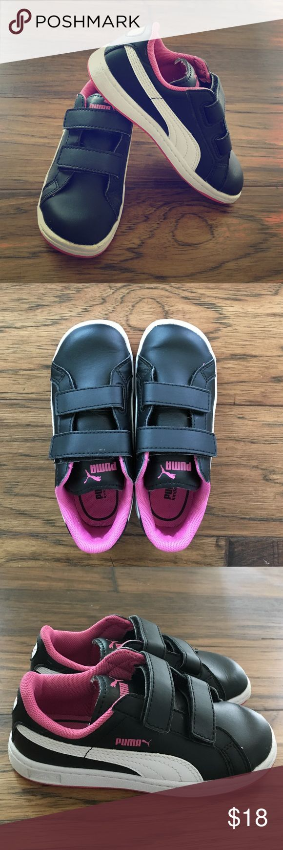 Puma girls Velcro sneakers Very gently used. Smoke free home. Puma Shoes Sneakers