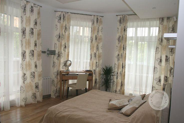 Шторы для спальни, шторы в спальню, дизайн и фото штор и жалюзи спальня #curtains ##window #interior #design #decor #beautiful