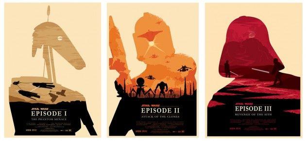 Olly Moss' Star Wars Prequel Posters  http://www.moss.fm/post/2350943620/star-wars-my-take-on-the-original-star-wars: Stars War Poster, Star Wars, Graphics Design, Olli Moss, Movies Poster, Poster Quadro-Negro, War Prequel, Olli Boyd, Nerd Art
