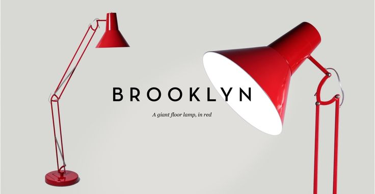 Brooklyn Giant Red Floor Lamp | made.com