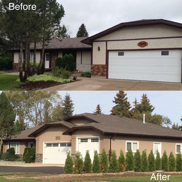 Complete exterior makeover. The addition to the garage as well as other updates sure make quite a difference!