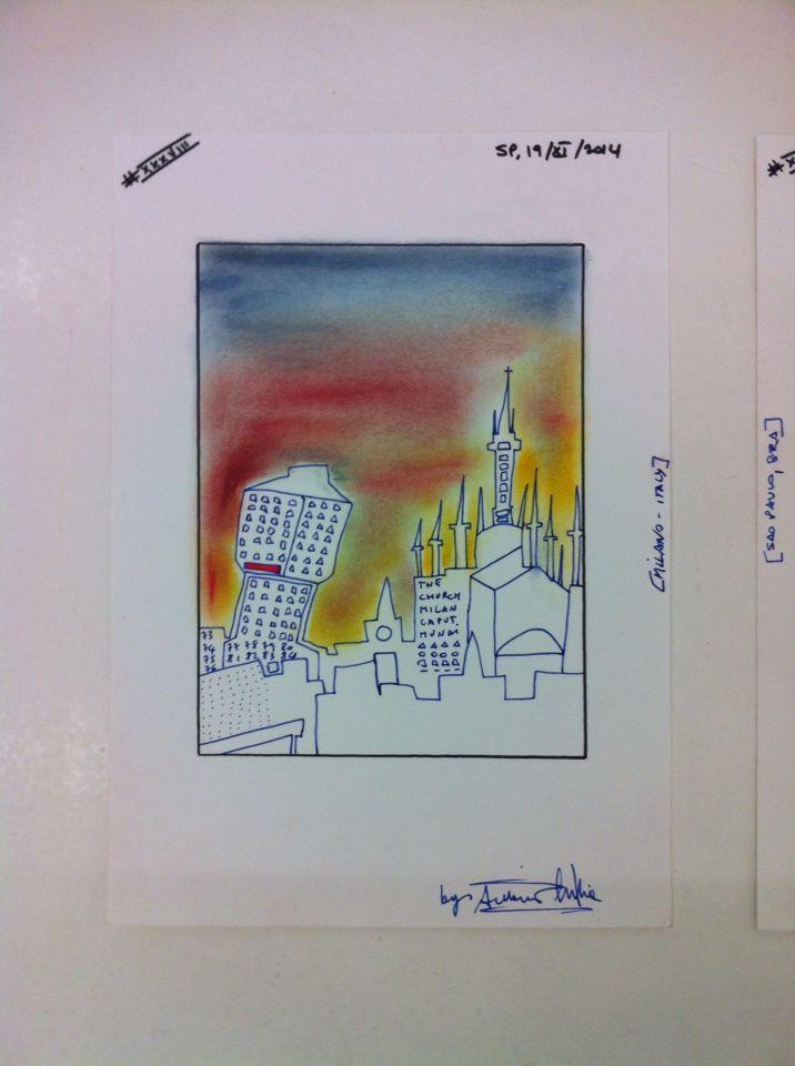 Geometrics Abstract of a City Views