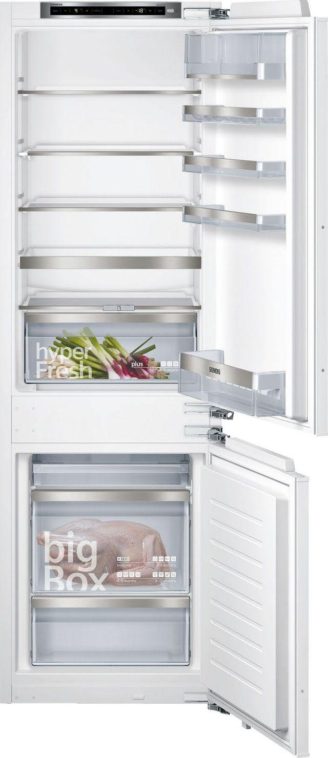 Einbau-Kühl-Gefrier-Kombination Flachscharnier-Technik