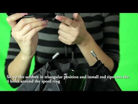 Softbox Flash Strobe Light Kit Installation - YouTube