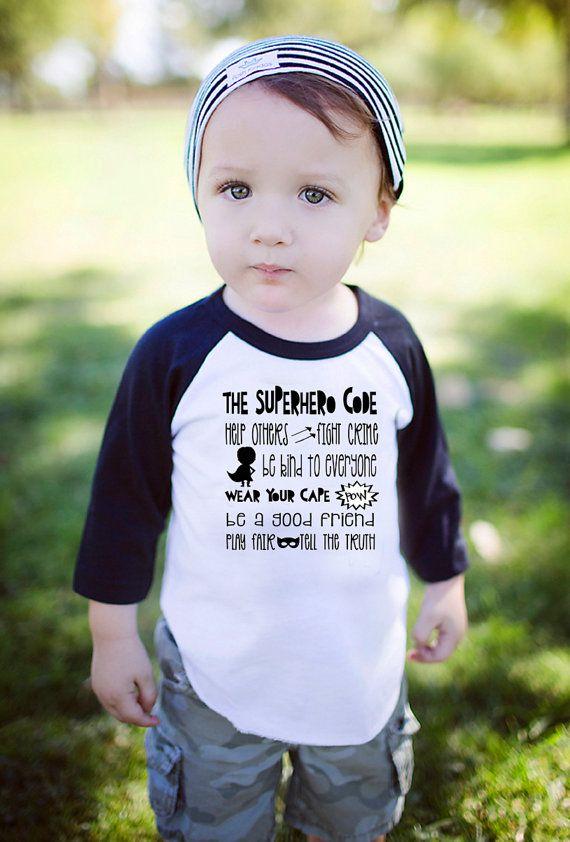 Boys Superhero Shirt Superhero Shirt Toddler by myhappylifedesigns