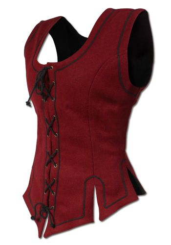 Corsage-Vest Wool, red