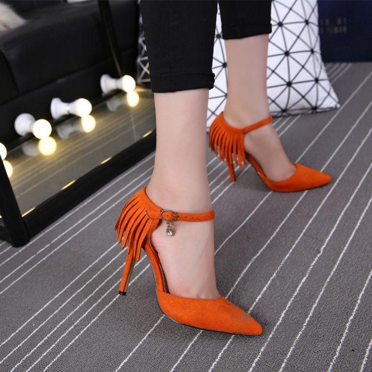 Schnalle Supercolor Schnalle Frühling Herbst Stilletos Schuhe Für Frauen Kleine Größe Einfache Knoechelriemchen Beliebtesten Schweinsleder //Price: $US $52.26 & FREE Shipping //     #abendkleider