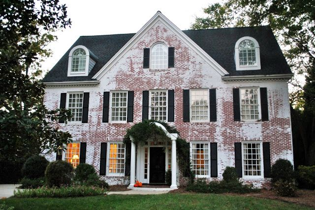 Whitewashed Brick Homes Before After Love The White