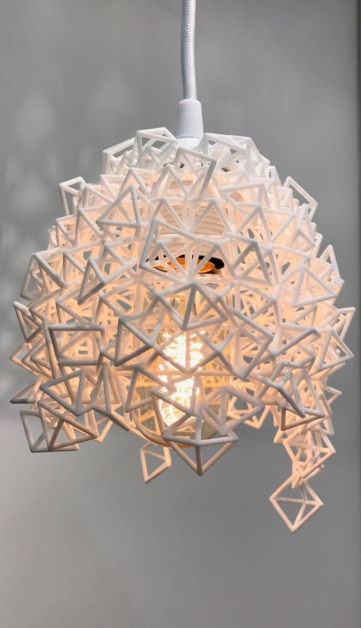 Happy Accident lamp (3D printed) exhibited at London Design Fair 2017, MALINKO Design