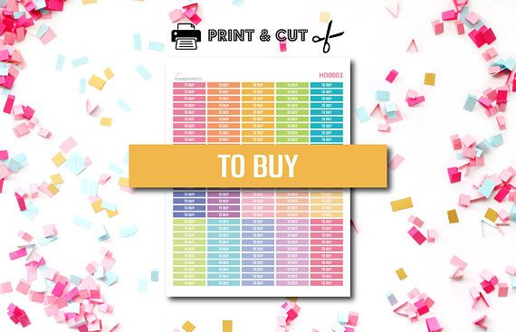 To Buy Stickers  Header Stickers  Shopping  Printable
