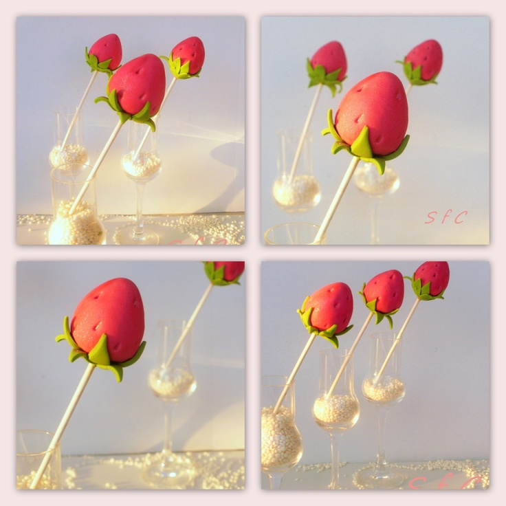 Sugar flowers Creations: Φραουλίτσες Cake pops