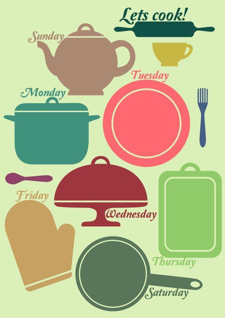 Pinterestu0027teki 25u0027den fazla en iyi Meal planning templates fikri - meal planning template
