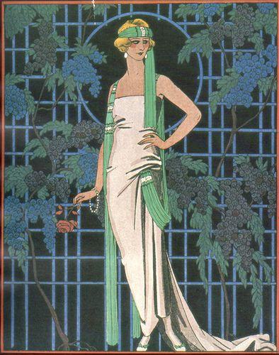 George Barbier   Des Roses Dans La Nuit 1921