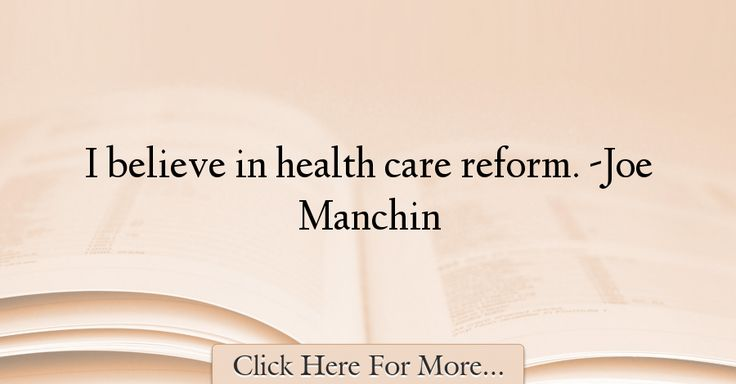 Joe Manchin Quotes About Health - 33349