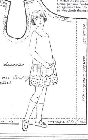 SEMAINE de SUZETTE_Bleuette Pattern, 1928 Cute & simple Summer dress