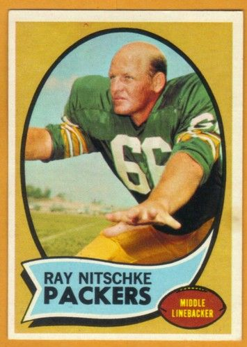 Ray Nitschke. Green Bay Packers. NFL Hall of Fame Linebacker