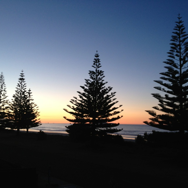 Sunset at Ohope Beach, Bay of Plenty, New Zealand 12/08/12