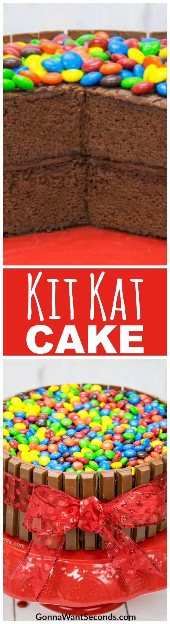 Cut me off a piece of that Kit Kat Cake! A moist, homemade chocolate cake with fudgy frosting makes this candy bar delivery vehicle something special.