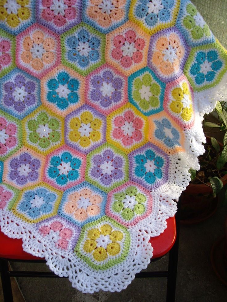 This is traditional Granny Square blanket.It is crocheted from beautiful colored acrylic yarn.The colors are used random.There is 59 different squares. This baby blanket I made with all my love.It is very cute,soft and warm.It is perfect decoration for your baby crib. Wash by hands or in a washing machine-hand imitating program and flat dry. Size:42/107cm/-32/82cm/. This item is shipped from Bulgaria.It is made to order.Please allow 7 business day for my work ,before shipping.