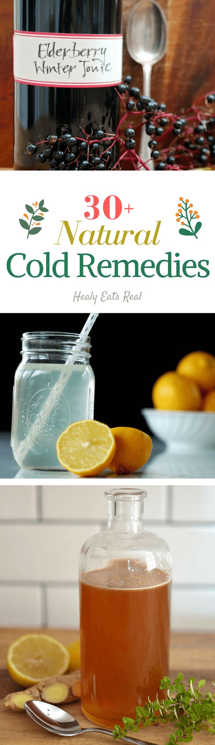 30+ Natural Cold Remedies-----Amazing list of holistic and herbal tips for coughs, colds and flu!