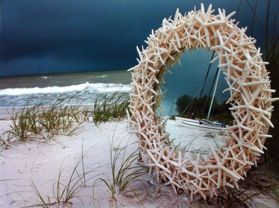 Love this mirror. Would be a cute pic frame. Starfish Mirror on Etsy, $1,595.00