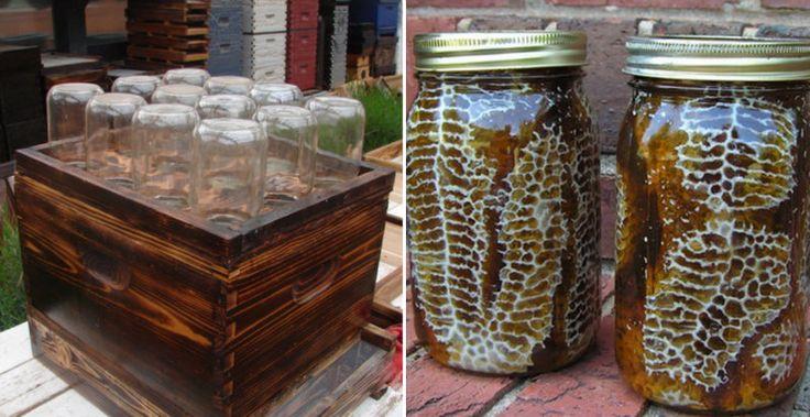 how to make a bee feeder jar