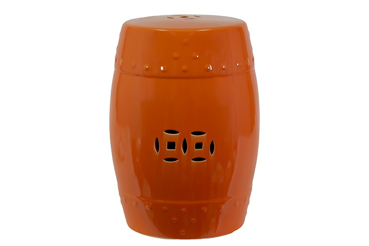 moroccan garden stool.: Ceramics Gardens Stools, Trends Ceramics, Garden Stools, Stools Orange, Orange Utc70602, Trends Gardens, Gardens Products, Moroccan Gardens, Collection Ceramics