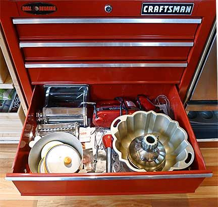 Baking Equipment Drawer in Craftsman Ball Bearing Tool Chest