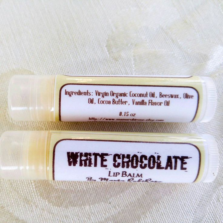 Natural Lip Balm - White Chocolate Lip Balm-Birthday Gift - Shower Favors - Gift for Him - Gift for Her-Vanilla Lip Balm- Chocolate Lip Balm by MamaRubiRose on Etsy